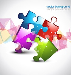 Colorful puzzle eps10 artwork vector