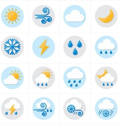 Flat Icons Weather Icons vector image