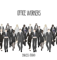 Huge crowd of office workers vector