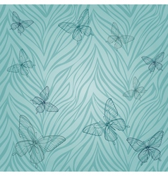 Seamless pattern with butterflies of vector