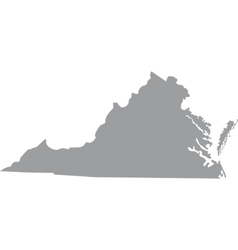 Map of the us state of virginia vector