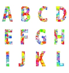 Bright creative cartoon comic alphabet vector