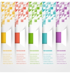 Abstract triangle template banner Color set vector image vector image
