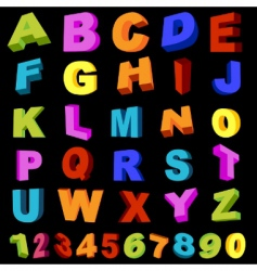 alphabet with numerals vector image