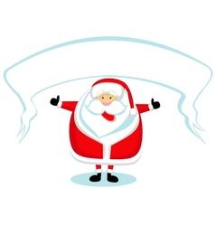 Cartoon Santa vector image vector image