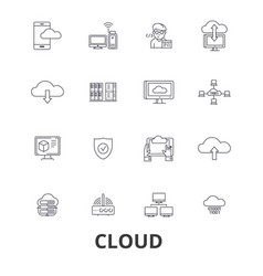 Cloud technology internet web system vector