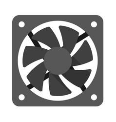computer cooler flat vector image vector image