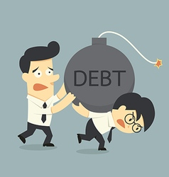 debt vector image