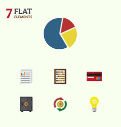 Flat icon incoming set of graph counter vector