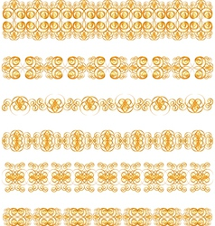 Gold border vector