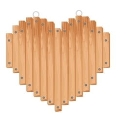 Heart dsign with wooden sticks vector