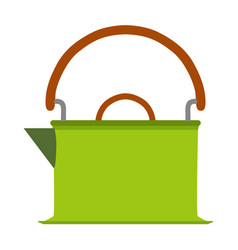 kettle tea icon coffee teapot background drink vector image