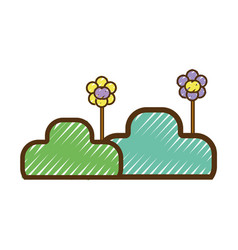 nice plants and flowes with petals vector image vector image