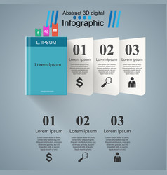 paper book - business infographic vector image