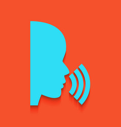 People speaking or singing sign whitish vector