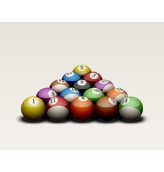 Pool balls isolated vector image