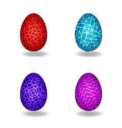 set of magic egg vector image