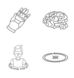 technology innovation man complemented virtual vector image vector image