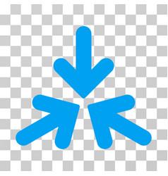 Triple collide arrows icon vector