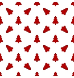 Pattern for wrapping paper red christmas tree on vector