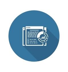 Report icon flat design vector