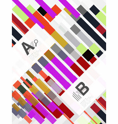Colorful lines rectangles and stripes with option vector