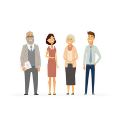 business people - modern flat composition vector image