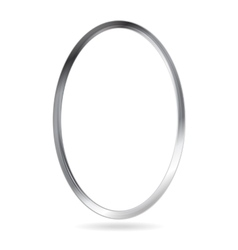 Steel metal ellipse frame border vector