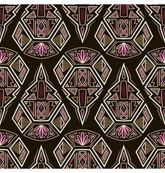 Seamless antique aztec pattern ornament vector