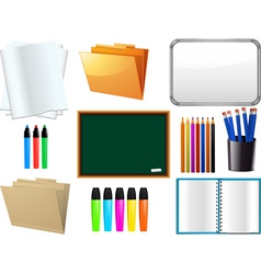 School supplies elements vector