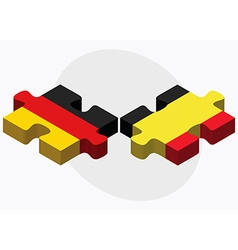 Germany and belgium flags vector