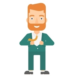 Man taking off jacket vector