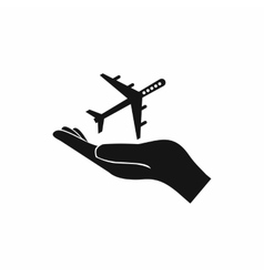 Protection of air travel icon simple style vector
