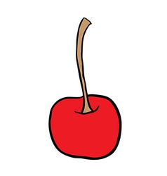 Freehand drawn cartoon cherry vector