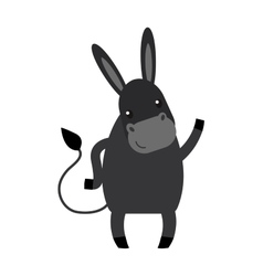 Cartoon donkey farm animal vector