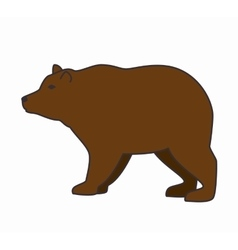 Bear wild animal isolated icon vector