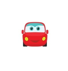 Car auto cartoon icon kids little toy with vector
