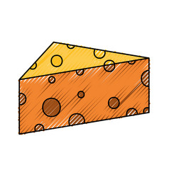 Cheese doodle vector
