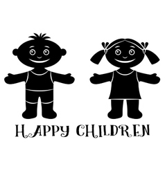 Children on beach vector