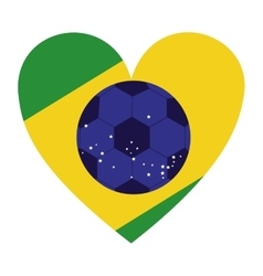 Colorful silhouette with brazil heart vector