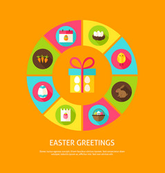Easter greetings concept vector