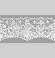 Floral lace border vector