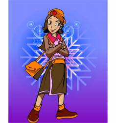 Girl character vector