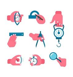 Hand-held measurement tools vector