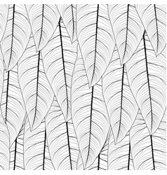 Long tropical leaves repeat seamless pattern vector