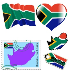national colours of South Africa vector image vector image