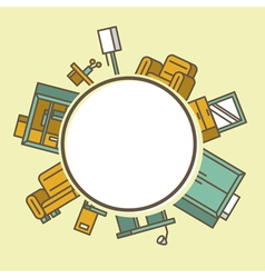 Pile of furniture vector image