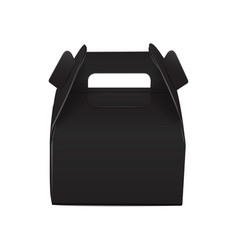 Realistic paper cake package black box mock up vector