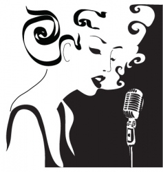 retro woman singing vector image
