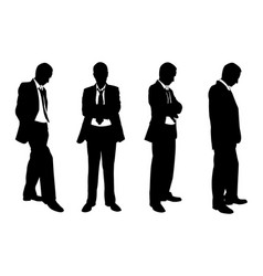Set of business people posing vector